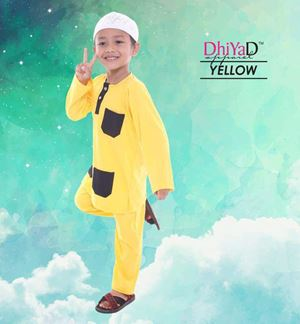 CLEARANCE KURTA DHIYAD (YELLOW)