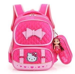 Hello Kitty Bag Set  ( DARK PINK )
