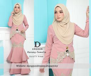 Kurung Camelia Dusty Pink