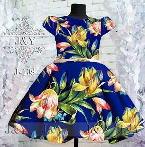 J&Y FLOWER DRESS BLUE