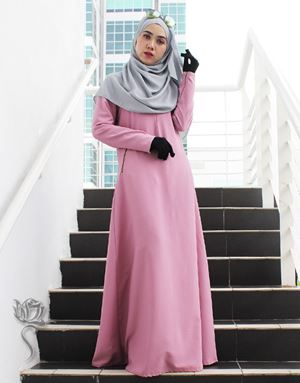 LE HAJA DRESS - DUSTY PINK