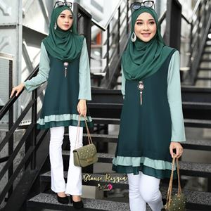 BLOUSE RIZQIN - EMERALD TIFFANY