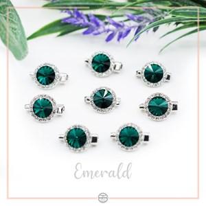 Brooch Rivoli Luxe Emerald