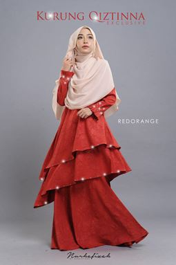 KURUNG QIZTINNA ( RED ORANGE )