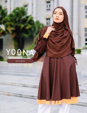 YOONA BEAUTY BLOUSE - BROWN