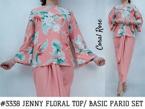 JENNY FLORAL TOP / BASIC PARIO SET