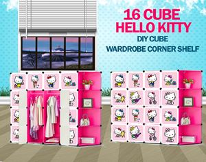 New Hello Kitty 16C DIY Cube w Corner Rack (HK16CR)