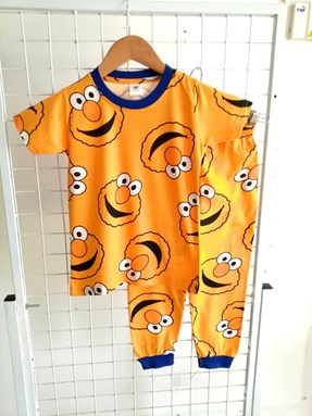 Pyjamas ELMO YELLOW :  BIG Size 12 -18