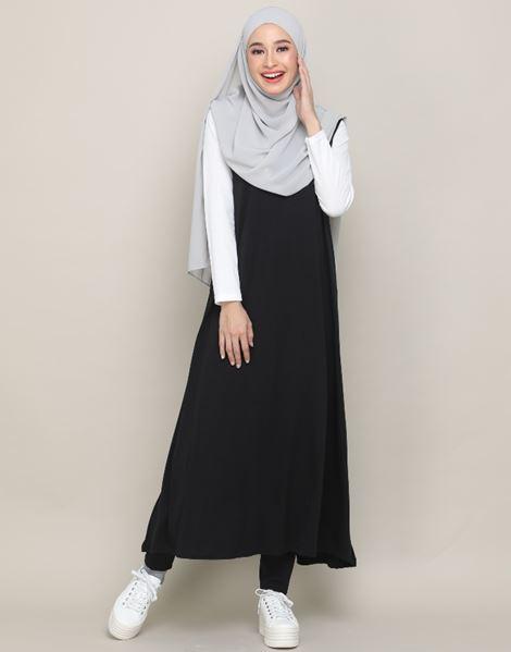 EDNA SLEEVELESS DRESS IN BLACK