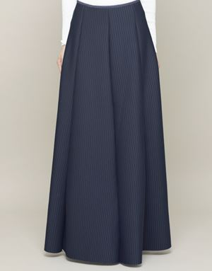 KHLOE STRIPED SKIRTS IN NAVY BLUE