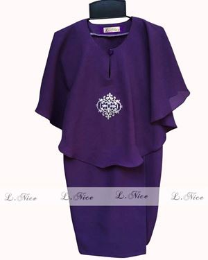Baju Kurung Batwing - Dark Purple