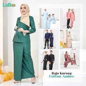 LaBoo Baju Kurung Dewasa Cotton Amber