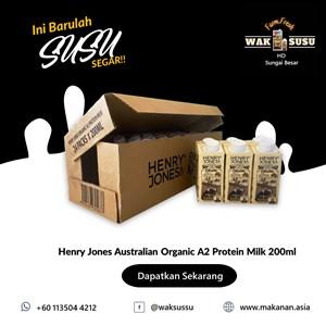 Henry Jones Australian Organic A2 Protein Milk 200ml X 24 PKTS