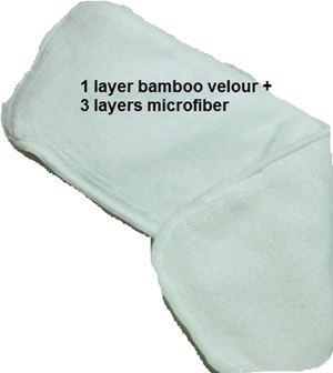 Microfiber top up bamboo velour insert