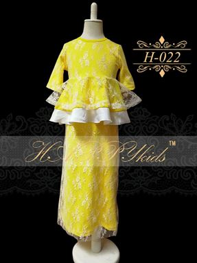 HAPPYkids Exclusive Lace Peplum H-022 ( YELLOW )