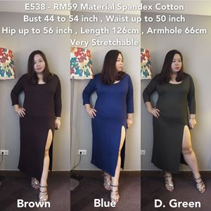Ready stock -E538  *Bust 44 to 54 inch/110-137cm