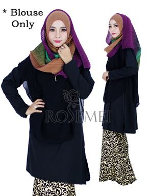 BELLA LONG TUNIC - BLACK