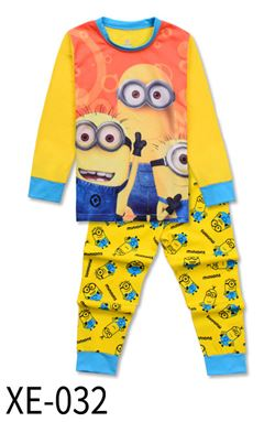 XE-032 'Minion' KIDS PYJAMAS (2T-7T)