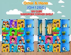 Omar & Hana BLUE 12C DIY WARDROBE w CORNER RACK (OH12BC)