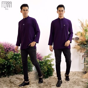 BAJU KURTA FERRA DARK PURPLE