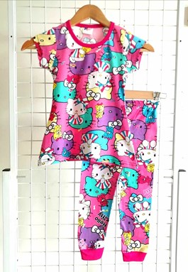 Pyjamas HELLO KITTY MUSIC PINK  : BABY size 12m  (MYSHA)