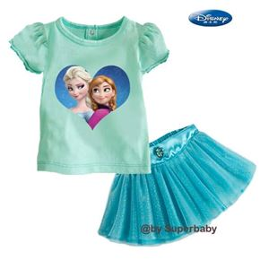 G 068/14 FROZEN 2PCS SET (top + skirt) - DESIGN D