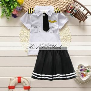 Baby & Kids Pilot Clothes - For Girl White
