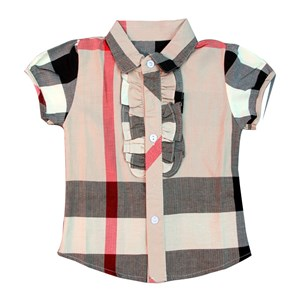 382  BURBERRY SHIRT ( SIZE 2Y-7Y )  BROWN