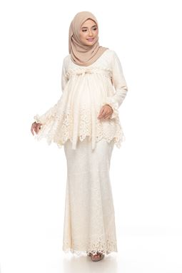 Sri Tanjunng Kurung Exclusive - Cream