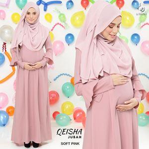 Jubah Qeisha : Soft Pink
