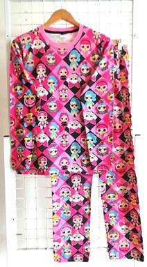 Pyjamas CUTE LOL BLACK PINK : DEWASA XL - 2XL (MYSHA)