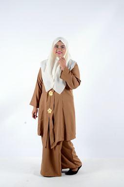 Kebaya Khadeejah - Brown