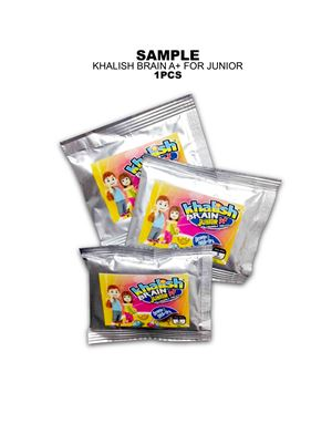 Sample, Khalish Brain A+ for Junior, 1 Sachet / 5 Tablets