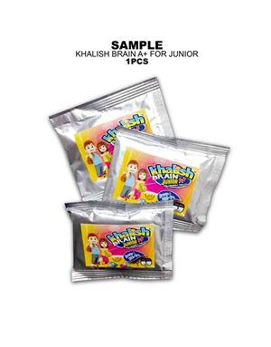 Sample, Khalish Brain A+ for Junior, 1 Sachet / 5 Tablets