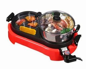 2 in 1 Magic Bullet BBQ and steamboat Electric Grill ETA 27/3
