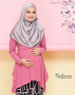 Rabecca Blouse Plain - Dusty Pink