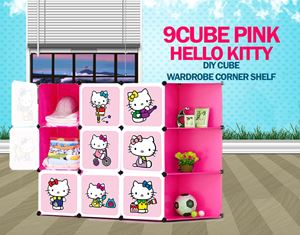Hello Kitty 9C DIY Cube w Corner Rack (HK9CR)