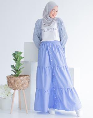 DARLA COTTON SKIRT IN SKYBLUE