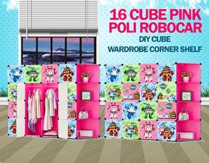 RoboCar Poli Pink 16C DIY Cube w Corner Rack (PL16PR)