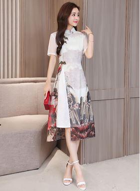 Retro Cheongsam Dress