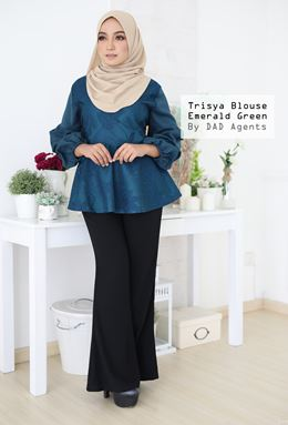 Trisya Blouse Emerald Green