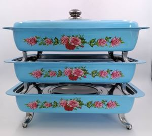 BUFFET VINTAGE TRAY 3pcs/set - BLUE ( 8L )