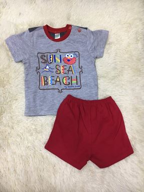 T-SHIRT ELMO SUN SEA BEACH (GREY)