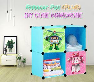 ROBOCAR POLI BLUE  4C DIY WARDROBE (PL4B)