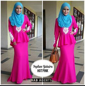 Peplum Yahaira Hot Pink