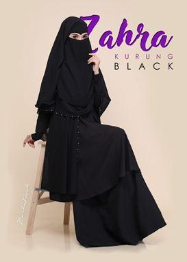 KURUNG ZAHRA [ BLACK ]