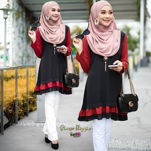 BLOUSE RIZQIN - BLACK RED