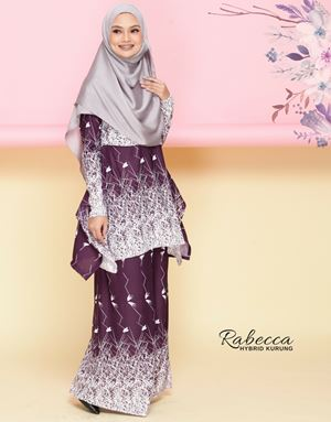 Rabecca Nursing Kurung - Dark Purple