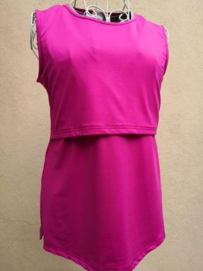 *Milk Silk* Sleeveless Nursing Inner (Hot Pink) Size Big