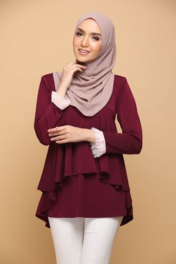 LILY BURGUNDY RED